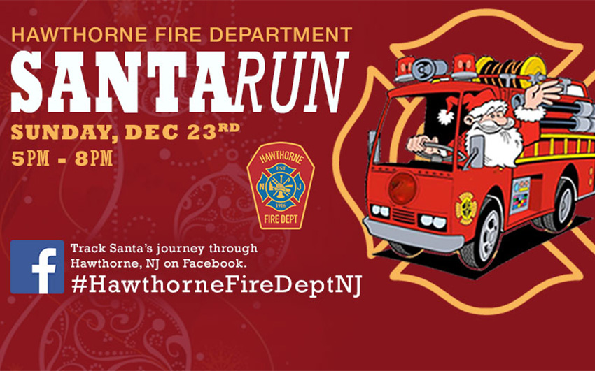 HFD Annual SantaRun (FaceBook Post Graphic)