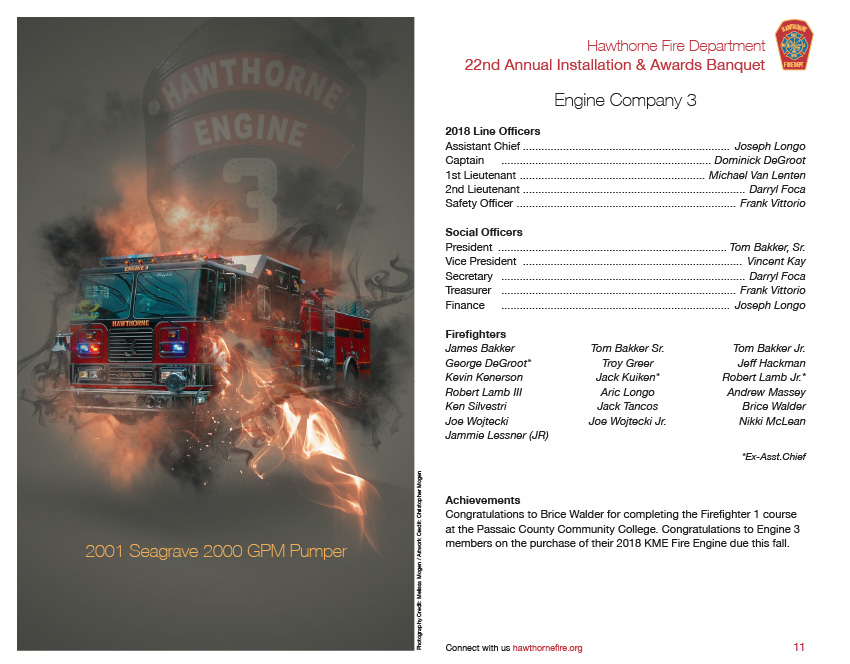 HFD Annual Installation & Awards Banquet Brochure (Company 3)