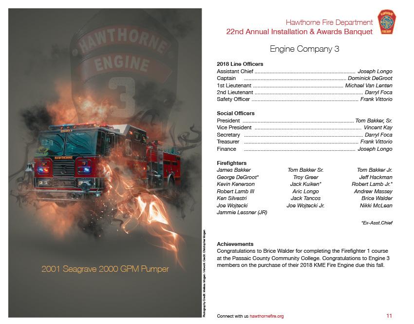 HFD Annual Installation & Awards Banquet Brochure (Company 3)