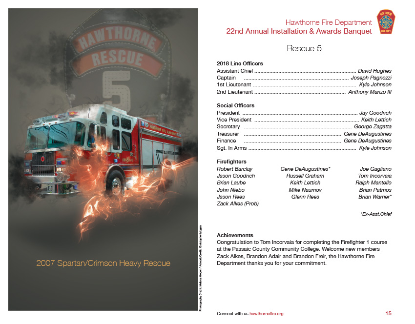 HFD Annual Installation & Awards Banquet Brochure (Company 5)