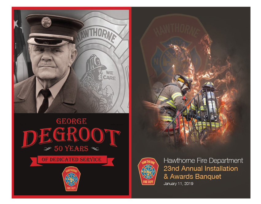 2019 HFD Annual Installation & Awards Banquet Brochure (Cover & Back)